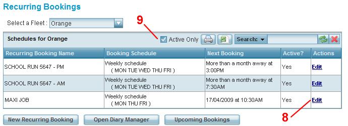 edit recurring bookings
