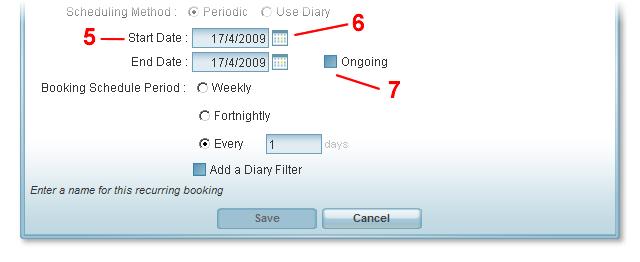 periodic bookings